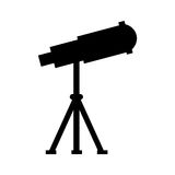 Telescope device spacial icon Royalty Free Stock Photography