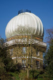 Telescope Dome, Greenwich Observatory. Dome covering the historic 38 inch telescope at the Royal Observatory, Greenwich, South East London.  Now preserved as a Royalty Free Stock Image