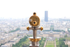 Telescope on Eiffel  tower Royalty Free Stock Photography
