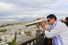 Telescope on Eiffel Tower Stock Photos