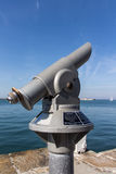 Telescope at the harbour of Dún Laoghaire, Ireland, 2015 Royalty Free Stock Photo
