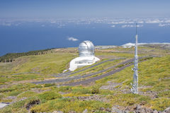 Telescope at the highest peak of La Palma Royalty Free Stock Images