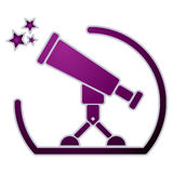 Telescope icon. Stock Photo