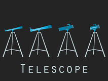 Telescope icons in flat style. Vector Royalty Free Stock Photo