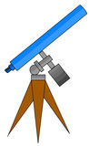 Telescope illustration Royalty Free Stock Image