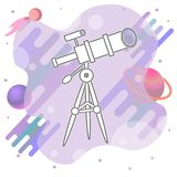 Line Telescope icon illustration isolated vector sign symbol royalty free stock image