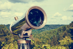 Telescope for landscape exploring. Stock Photography