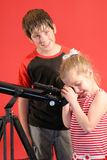 Telescope looking Royalty Free Stock Photo