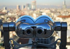 Telescope looking Milan Royalty Free Stock Photo