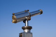 Telescope at the lookout Royalty Free Stock Photos