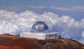 Telescope at Mauna Kea (Hawaii) Royalty Free Stock Photography