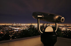 Telescope at Night Royalty Free Stock Images