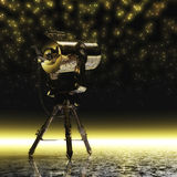 Telescope by Night Stock Images