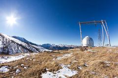 Telescope observatory mountains Royalty Free Stock Photography