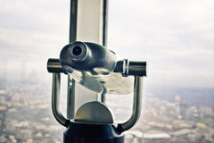 Telescope overlooking for Moscow Royalty Free Stock Photography