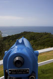 Telescope overlooking sea Royalty Free Stock Photo