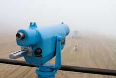 Telescope on pier Royalty Free Stock Photo