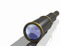 A telescope of a pirate. A 3D illustration of a pirate telescope Royalty Free Stock Images