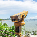 Telescope. On the point view Stock Photos
