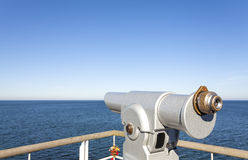 Telescope pointed at the horizon. Stock Photography