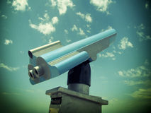 Retro telescope Royalty Free Stock Photos