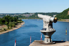 Telescope on the Rhine Stock Photography