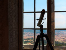 Telescope in the room Royalty Free Stock Photography