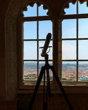 Telescope in the room Royalty Free Stock Image
