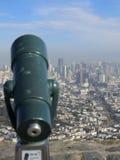 Telescope and San Francisco city Royalty Free Stock Image