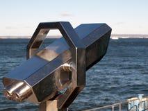 Telescope by the sea Stock Photo