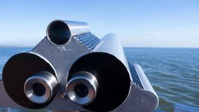 Telescope at sea Stock Photo