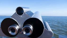 Telescope at sea Stock Photo