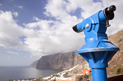Telescope and seaview Royalty Free Stock Image