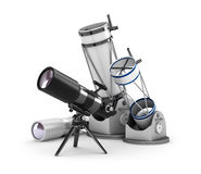 Telescope set on white Stock Image