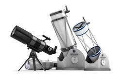 Telescope set on white background Royalty Free Stock Images