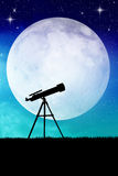 Telescope silhouette Stock Images
