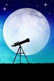 Telescope silhouette Stock Images