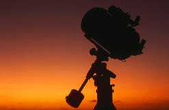 Free Telescope Silhouette At Sunrise 4 Stock Photos - 62273