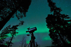 Telescope and sky Stock Photography