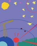 Telescope and stars Royalty Free Stock Photo