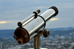 Telescope. The Telescope. Supervision over the remote objects Royalty Free Stock Photo