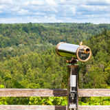 Telescope to observe the landscape Stock Image