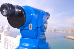Telescope to see the Bay of Benidorm Royalty Free Stock Image