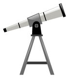 Telescope with triangle stand. Illustration Stock Image