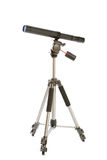 Telescope and tripode isolated on white background Royalty Free Stock Photography