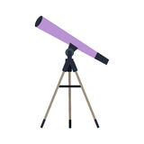 Telescope Vector Illustration in Flat Style Design  Web Stock Image