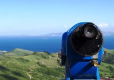 Telescope viewfinder and view Stock Images