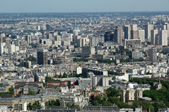 Telescope viewer and city skyline at daytime. Paris. France. Taken from the tour Montparnasse Stock Image