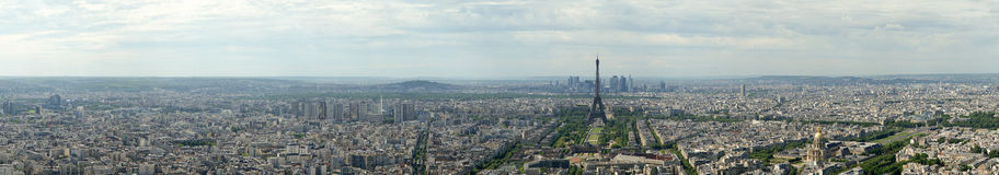 Telescope viewer and city skyline at daytime. Paris, France Stock Photography