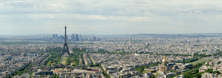 Telescope viewer and city skyline at daytime. Paris, France Royalty Free Stock Image
